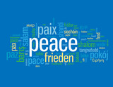 """PEACE"" Tag Cloud (paix paz frieden pace pax love hope freedom)"