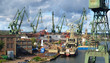 Gdansk Shipyard in a panorama, Poland