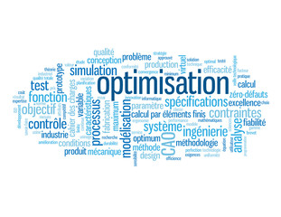 """Nuage de Tags """"OPTIMISATION"""" (modélisation ingénierie qualité)"""