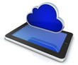 cloud mit tablet pc