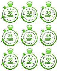 20 à 60 Minutes Chrono