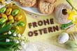 Frohe Ostern-Dekoration