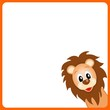 cute little lion on white background