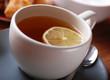 tè al limone in primo piano