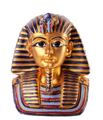 statue of Tutankhamun isolated in white background