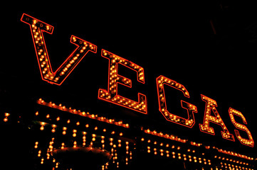 Vegas illuminated sign