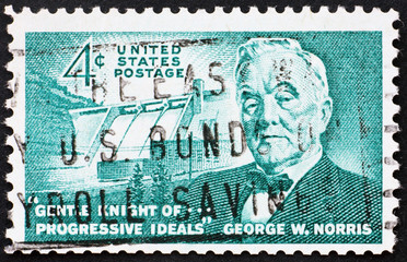 Postage stamp USA 1961 George William Norris, US Senator