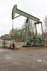 Oilfield in operation