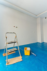 New, bright apartment painting