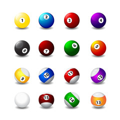 billiard balls with a displaced center