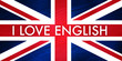 I love english - drapeau