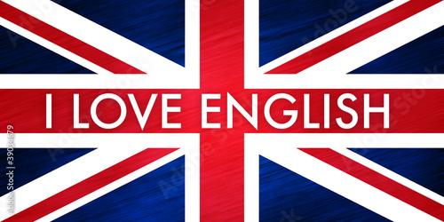 I love english - drapeau - 39034679