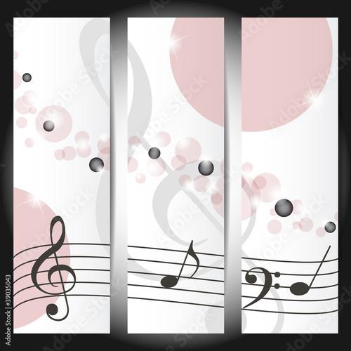 banners musicali - luci, bolle e chiavi di violino
