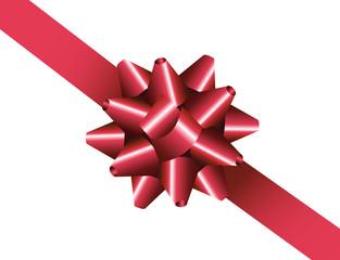 Rote gebundene Geschenkschleife