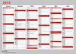 Kalender Deutschland 2013 Januar - Juni