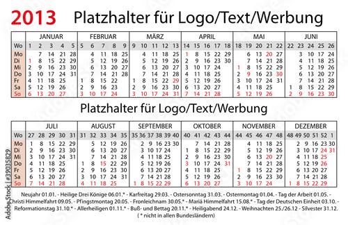 Taschenkalender Deutschland 2013