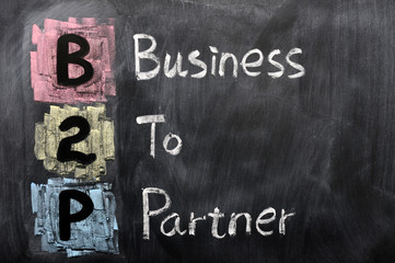 Acronym of B2P - Business to Partner