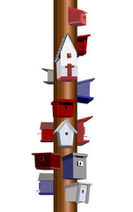 Birdhouse pole