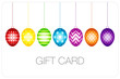 Gift Card Set 7 Hanging Easter Eggs