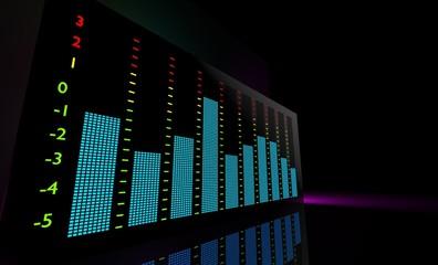 Vu meter, music concept