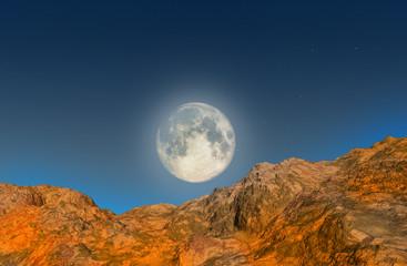 full moon - landscape