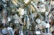 canvas print picture - Empty wine bottles