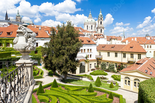 Vrtbovska Garden and Saint Nicholas Church,Prague,Czech Republic