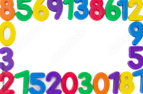 Assorted Numbers, isolated on white background..