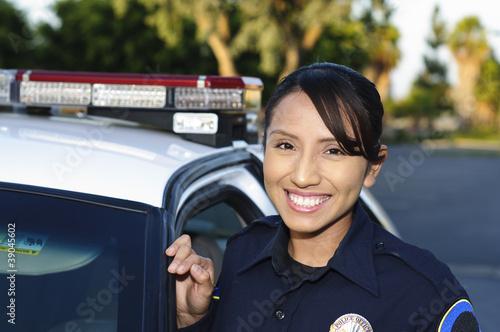 Leinwanddruck Bild police officer