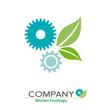 Logo biotech, farming # Vector