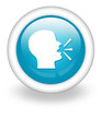 "Light Blue Icon ""Talking Head / Forum / Discussion"""