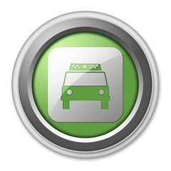 "Green 3D Style Button ""Taxi Cab"""
