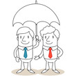 Geschäftsmann, Regenschirm 2