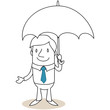 Geschäftsmann, Regenschirm 1