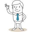 Geschäftsmann, Handzeichen