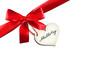 Muttertag - Schleife mit Herzlabel