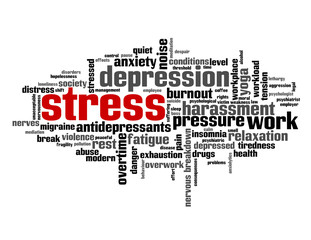 """STRESS"" Tag Cloud (anxiety depression insomnia noise workplace)"