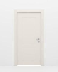 The closed white door