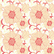 vector abstract seamless flower background