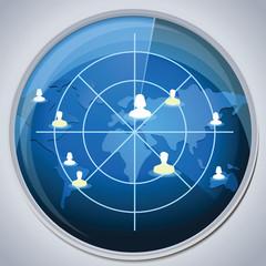 radar with social media friends