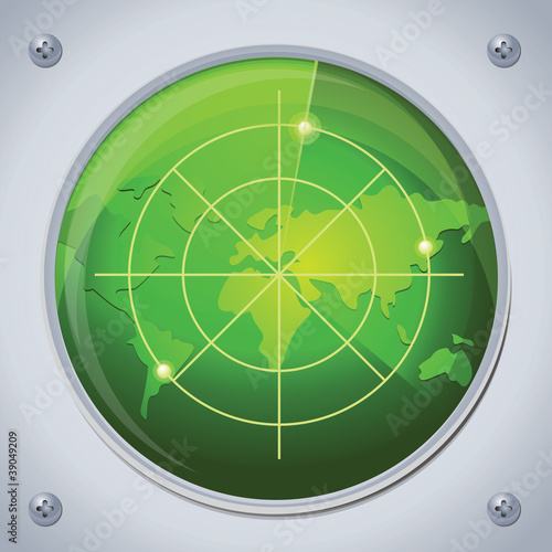 vector green radar