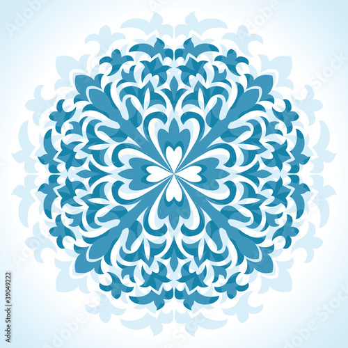 radial floral pattern - vector illustration