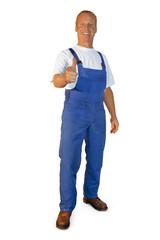 Workman on the job
