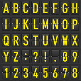 Fototapety Set of letters on a mechanical timetable