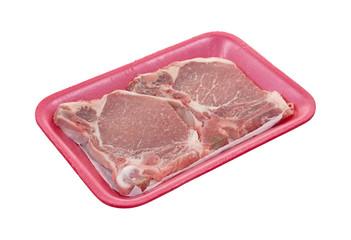 Pork Chops Tray Angle