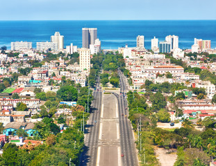 The city of Havana on a beautiful summer day
