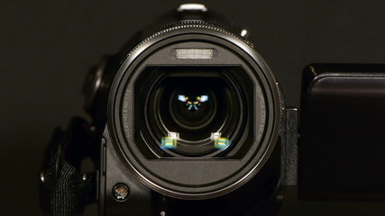 HD - Video camera. Lens movement