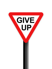 Give up sign
