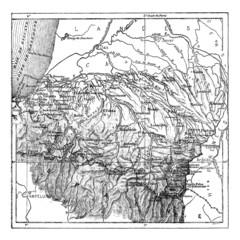 Department of Basses-Pyrenees or Pyrénées-Atlantiques, vintage e