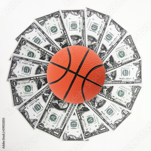 Basket and money